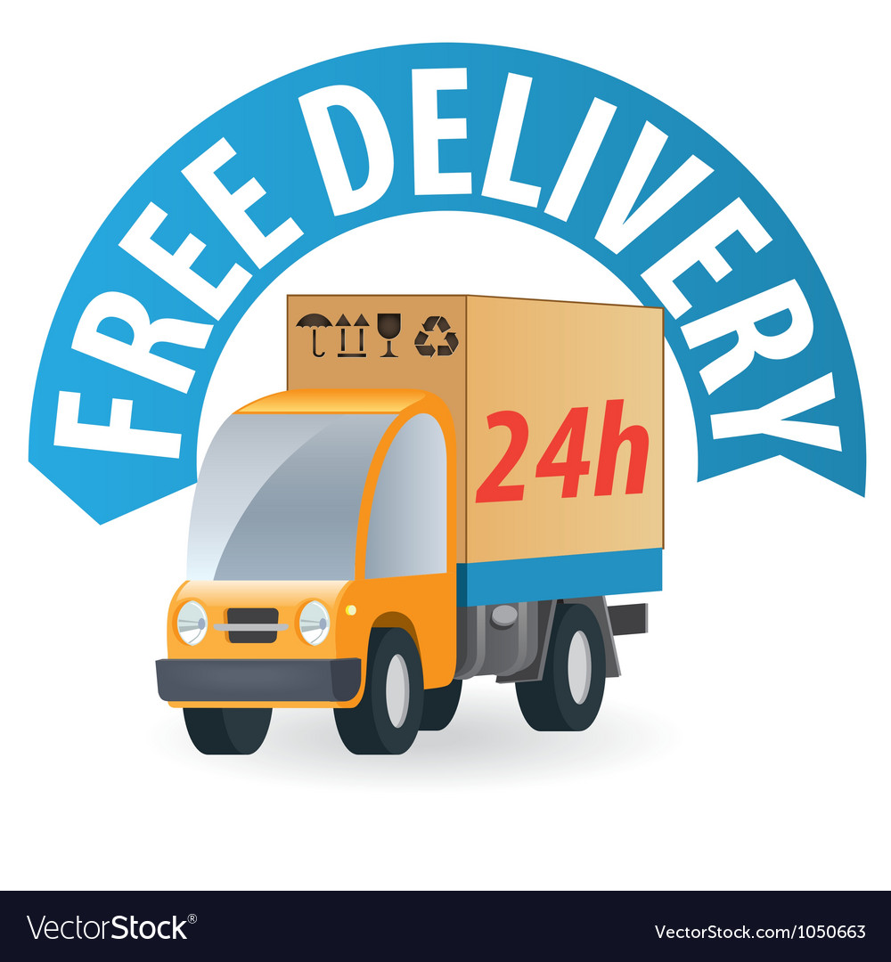 Delivery truck3 vector | Price: 1 Credit (USD $1)
