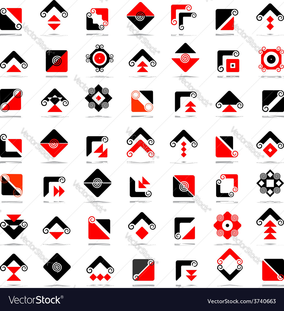 Design elements set vector | Price: 1 Credit (USD $1)