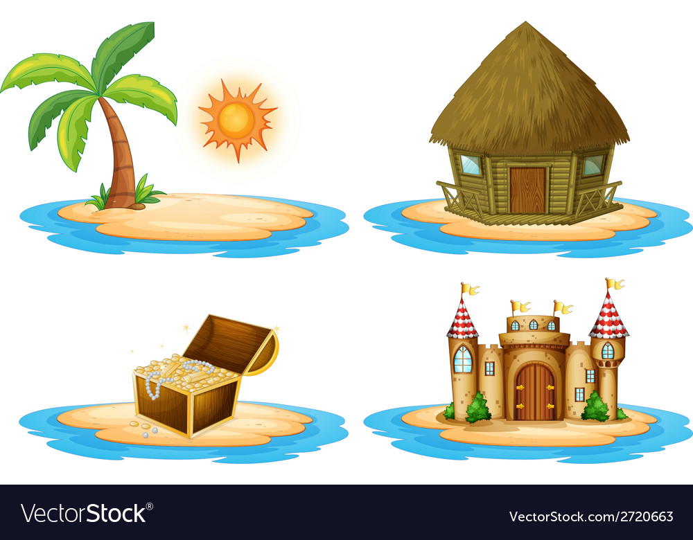 Four islands vector | Price: 1 Credit (USD $1)