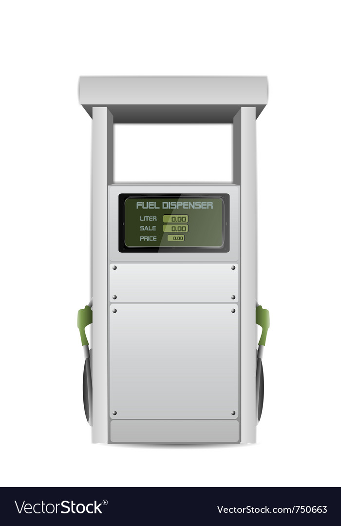 Fuel dispenser vector | Price: 1 Credit (USD $1)