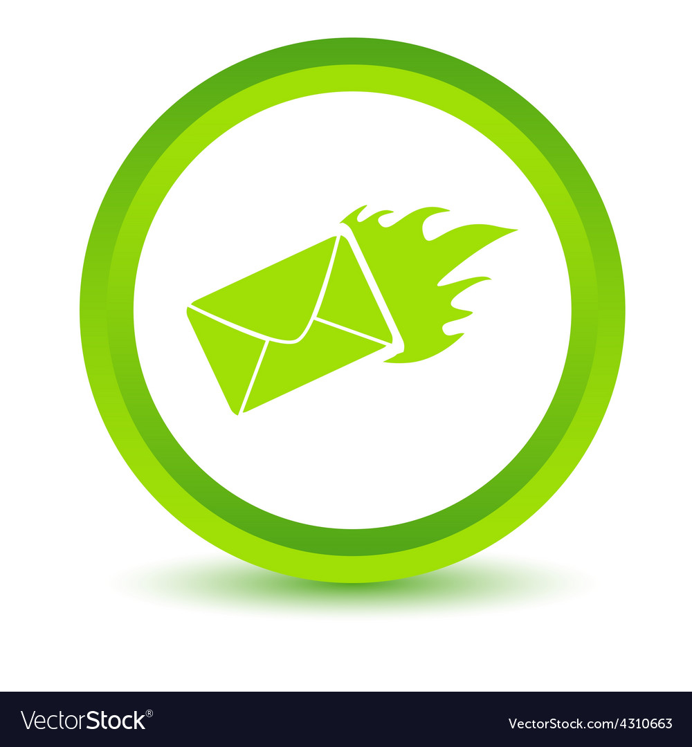 Green hot letter icon vector | Price: 1 Credit (USD $1)