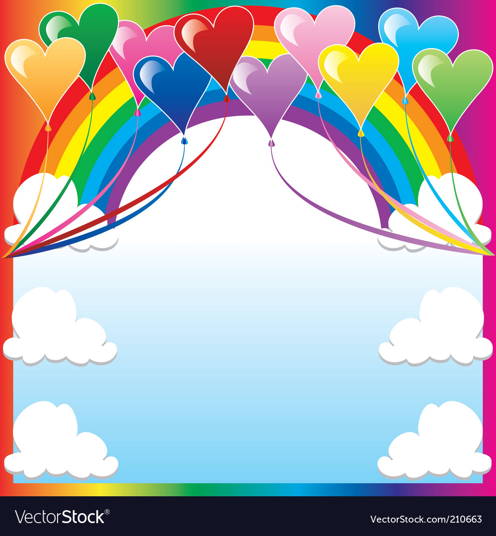 Heart balloon background vector | Price: 1 Credit (USD $1)