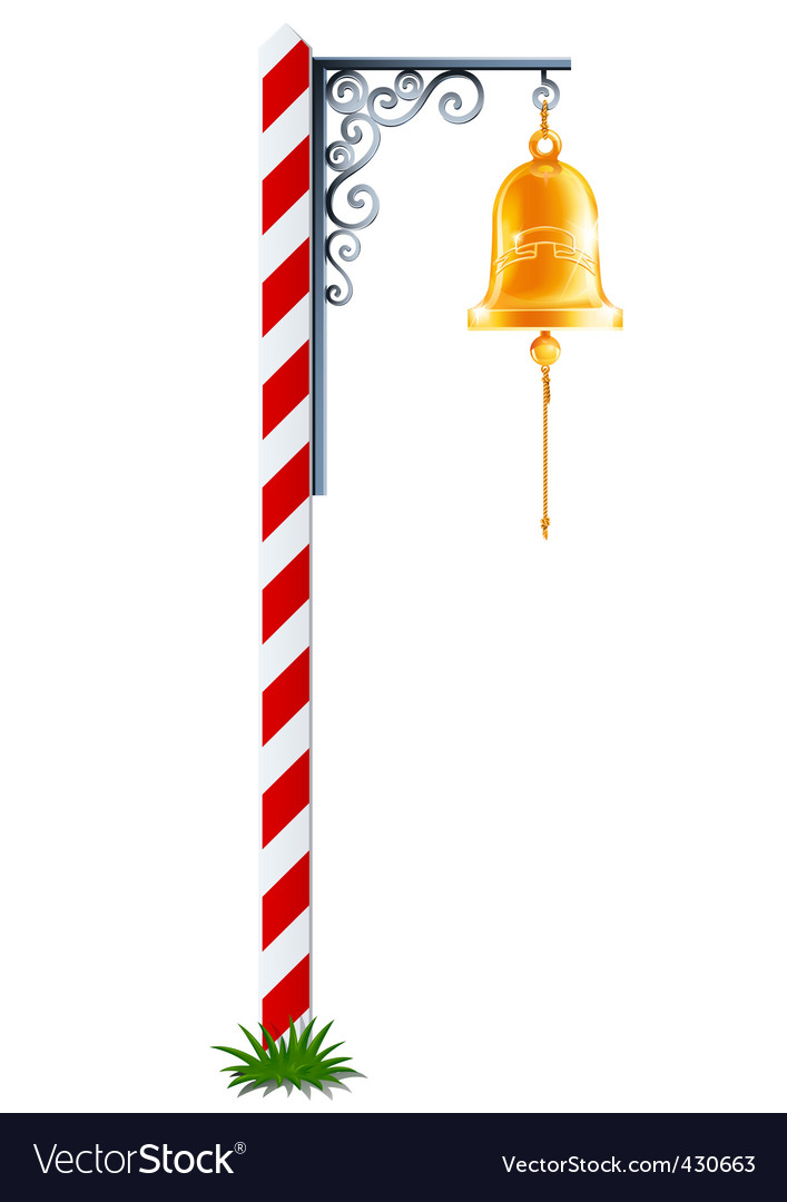 Post with hanging bell vector | Price: 1 Credit (USD $1)