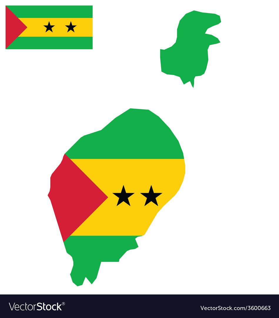 Sao tome and principe flag vector | Price: 1 Credit (USD $1)