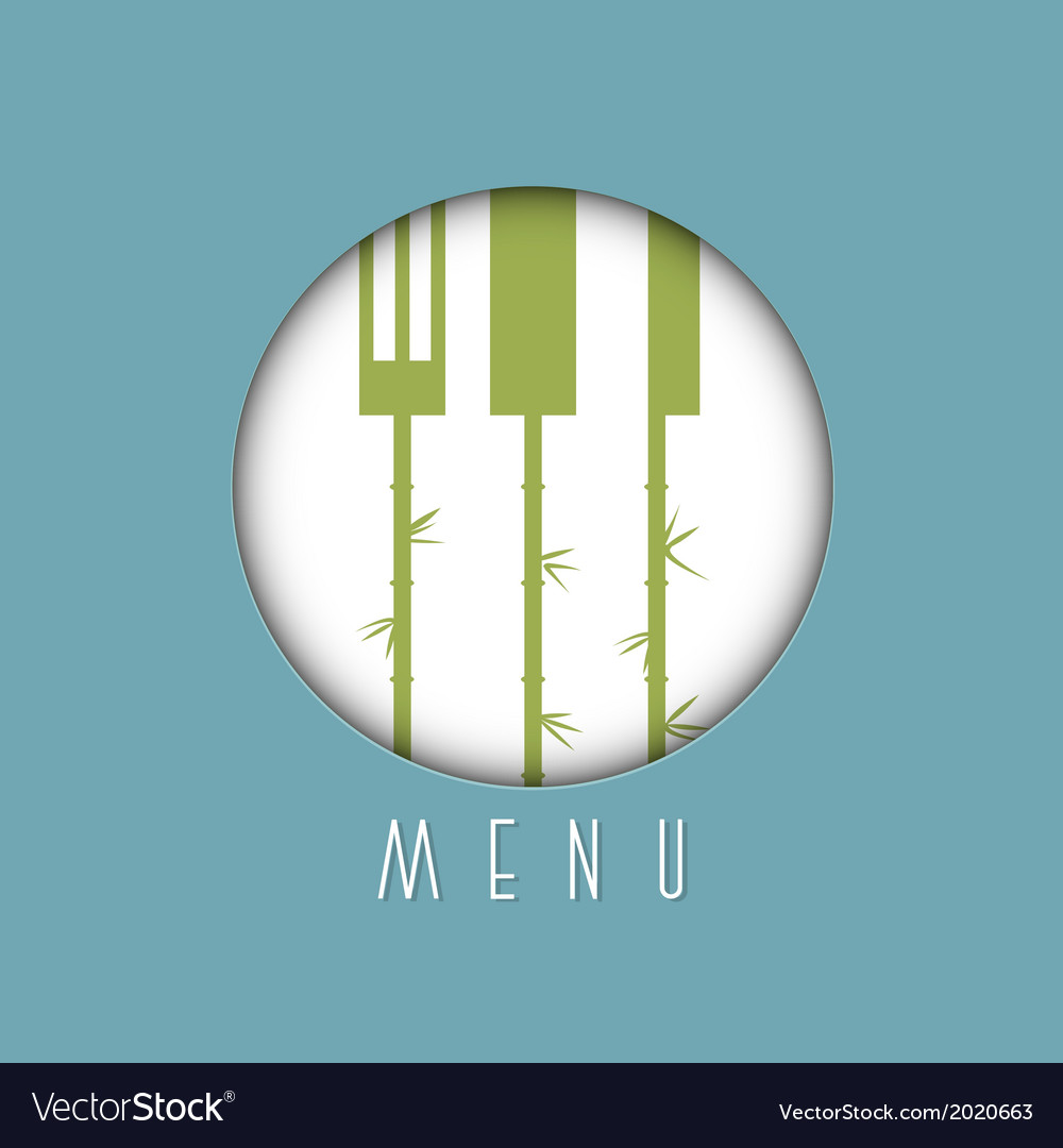 Stylish restaurant menu design in asian style vector | Price: 1 Credit (USD $1)