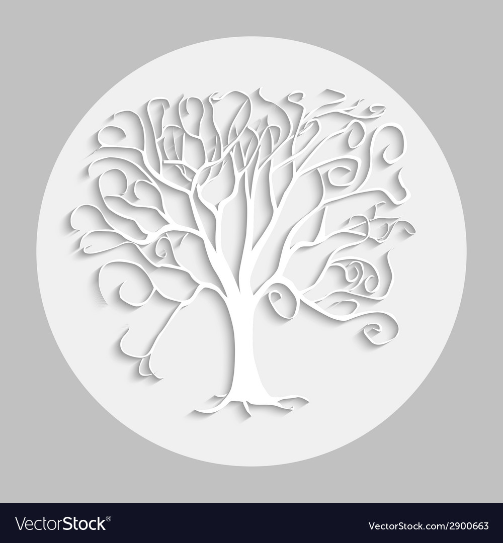 Tree black sh 01 vector | Price: 1 Credit (USD $1)