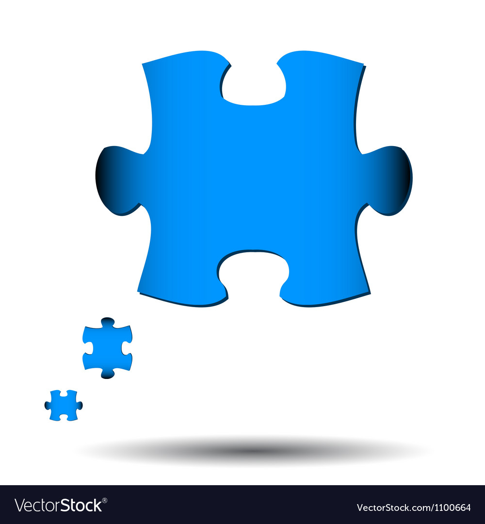 Abstract puzzle icon vector | Price: 1 Credit (USD $1)