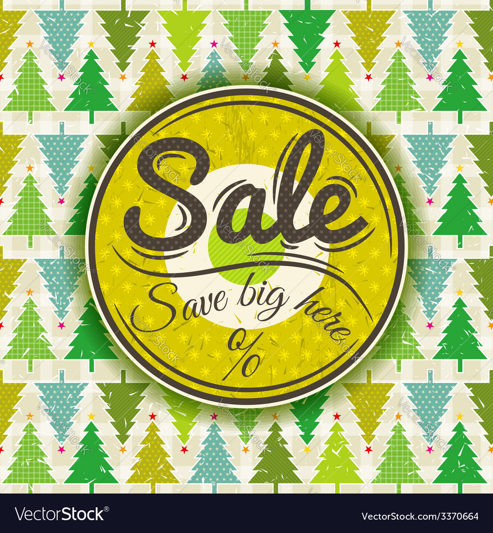 Christmas background and label with sale offer vector   Price: 1 Credit (USD $1)
