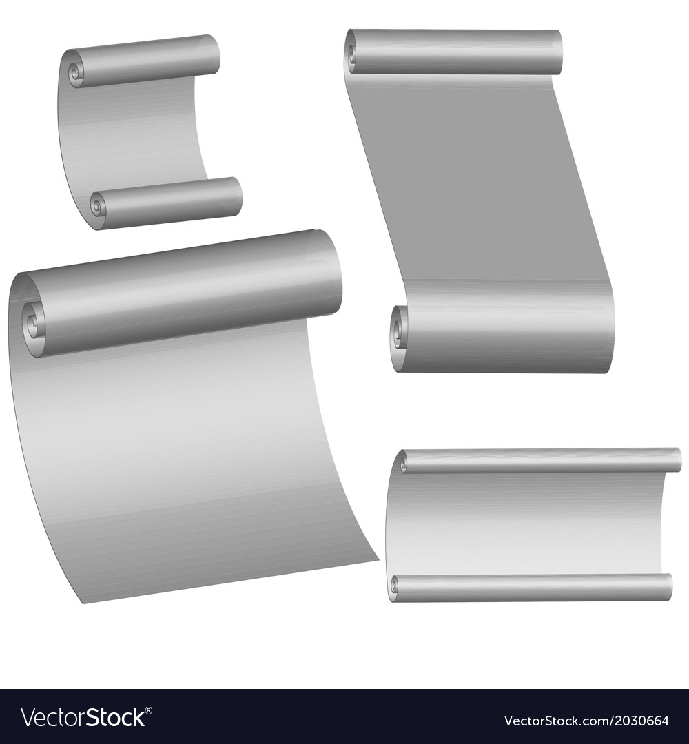 Collection of blank paper sheets vector | Price: 1 Credit (USD $1)