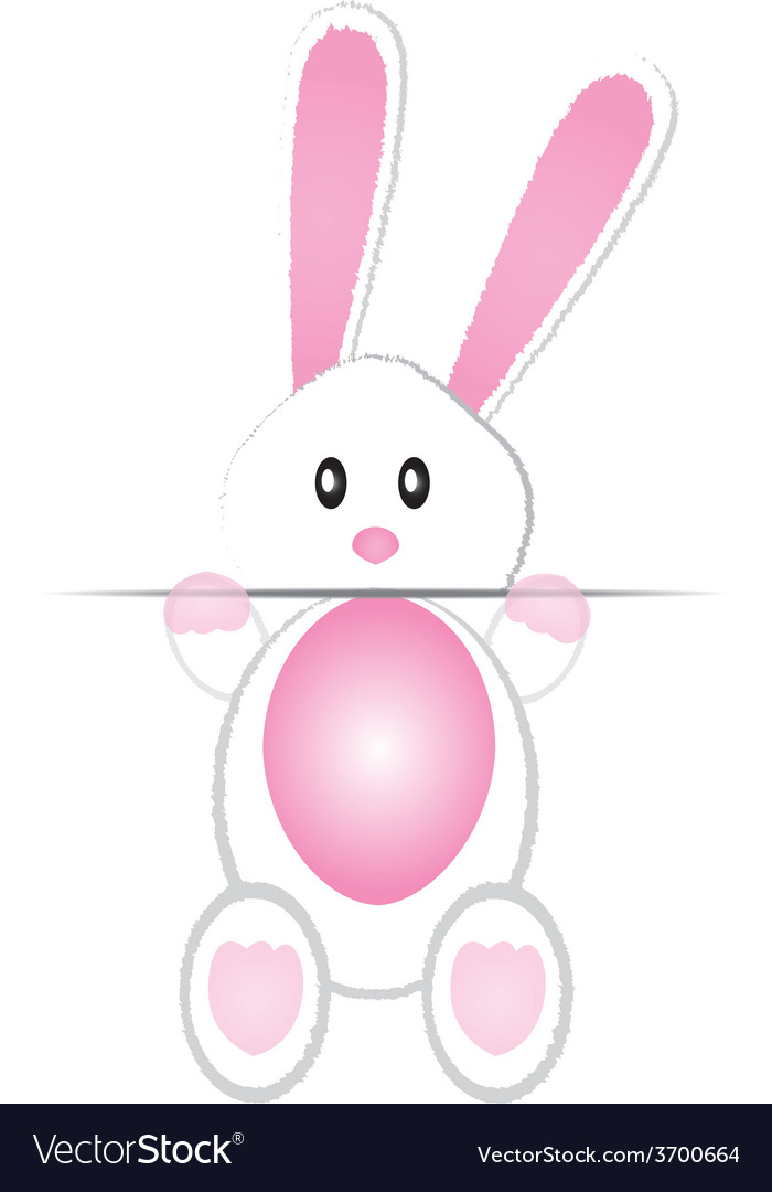 Cute bunny card vector | Price: 1 Credit (USD $1)