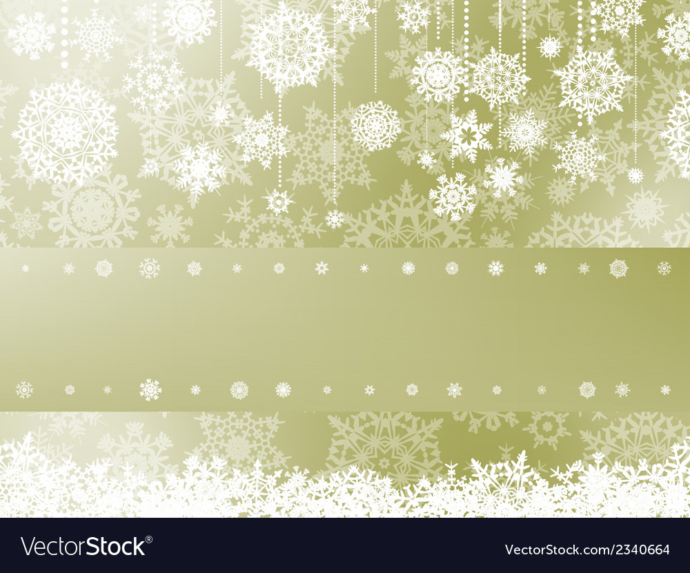 Elegant christmas background with snowflake eps 8 vector | Price: 1 Credit (USD $1)