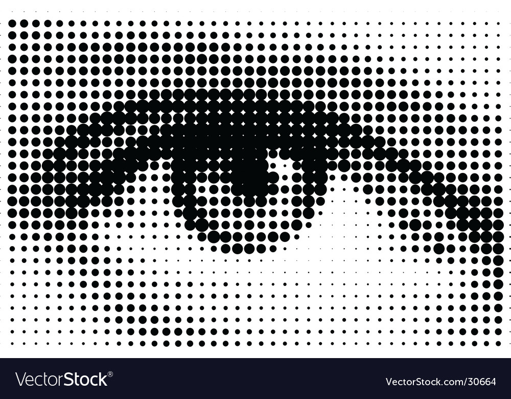 Halftone eye illustration vector | Price: 1 Credit (USD $1)