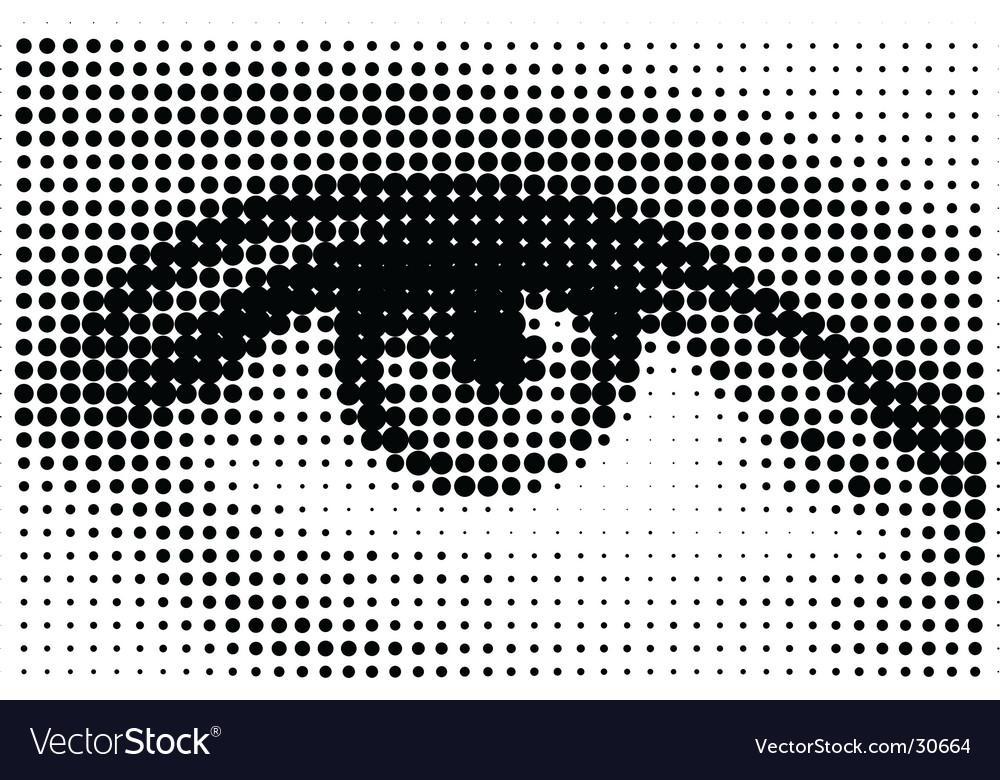 Halftone eye illustration vector | Price: 1 Credit (USD $1)