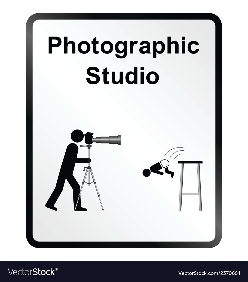 Photographic studio information sign vector | Price: 1 Credit (USD $1)