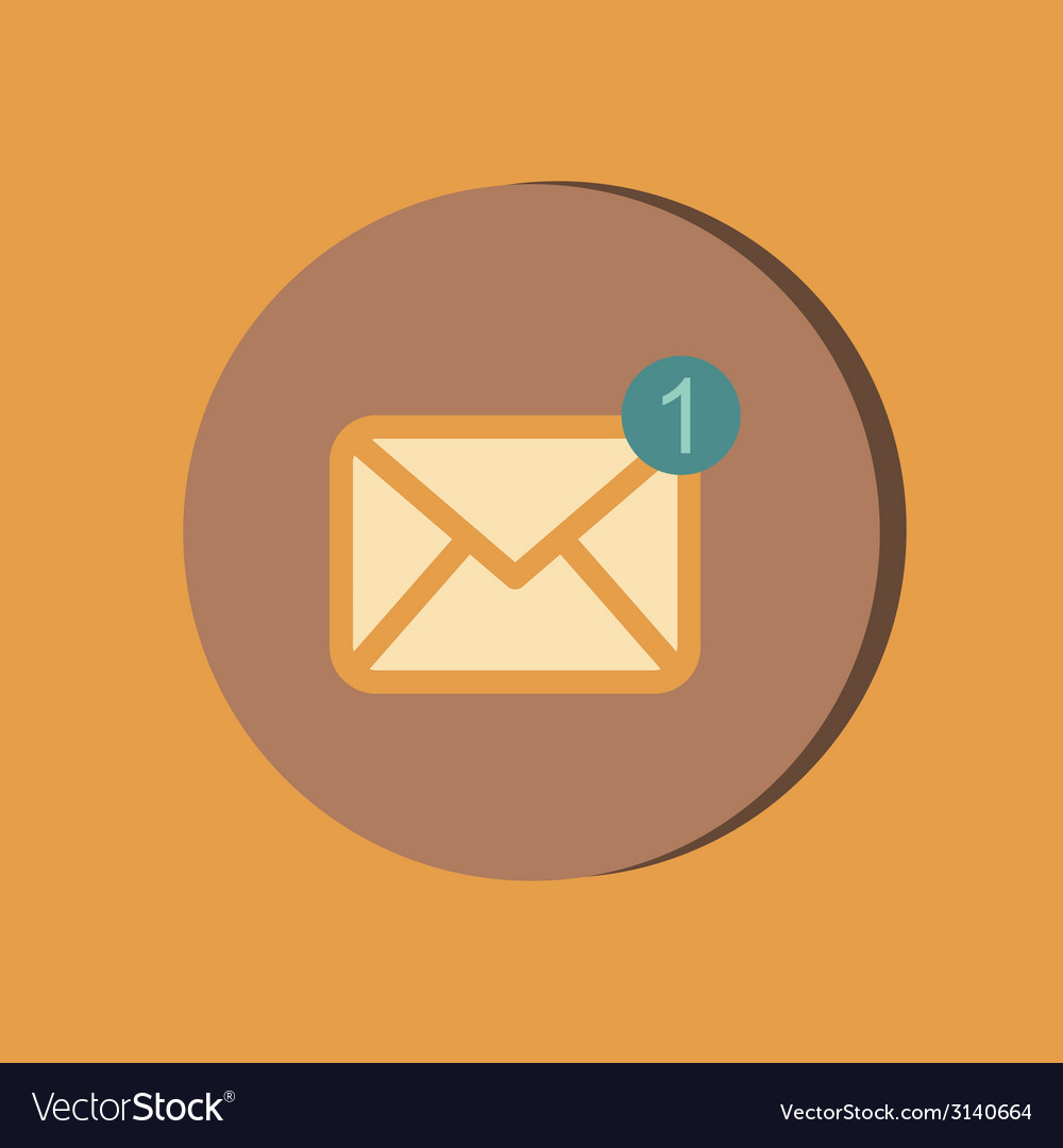 Postal envelope e-mail symbol icon envelope vector | Price: 1 Credit (USD $1)