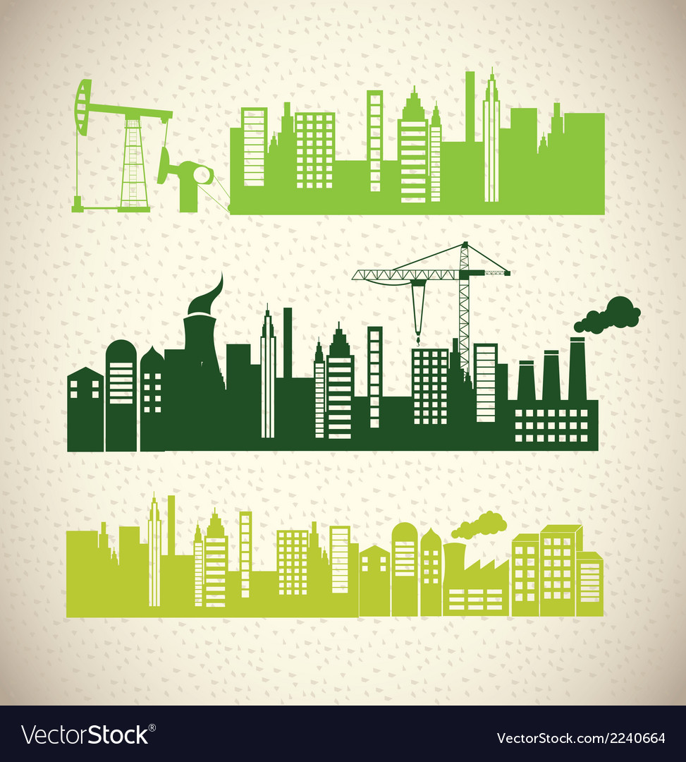 Simple city design vector | Price: 1 Credit (USD $1)