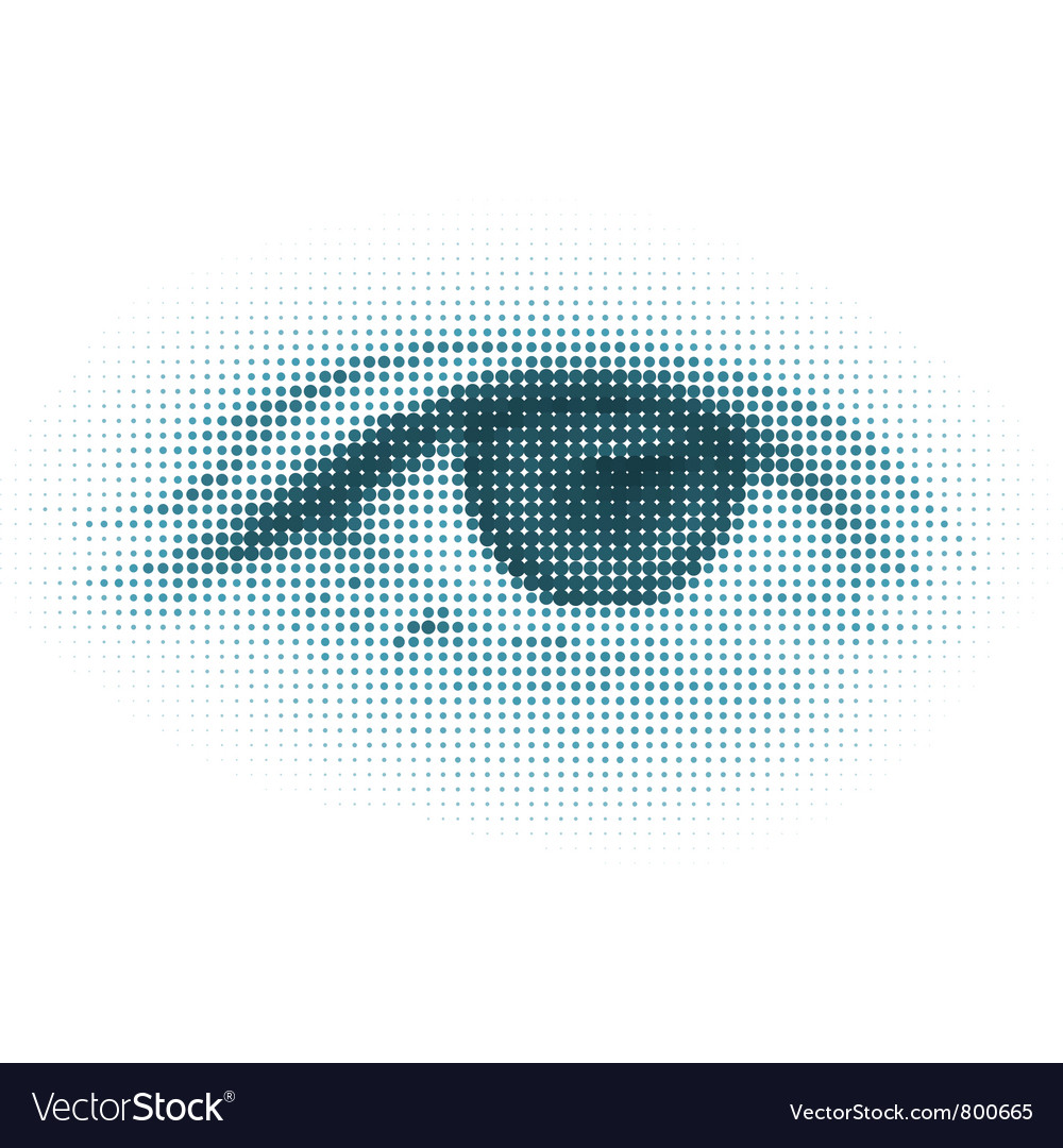 Abstract halftone digital eye vector | Price: 1 Credit (USD $1)