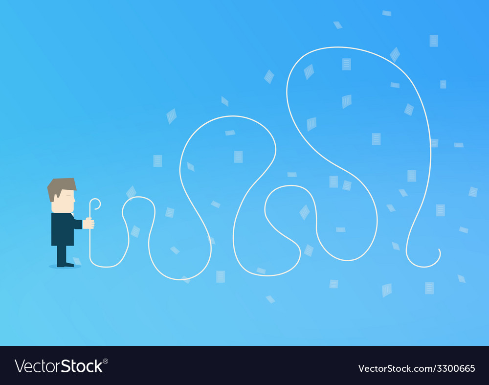 Businessman with a long list vector | Price: 1 Credit (USD $1)