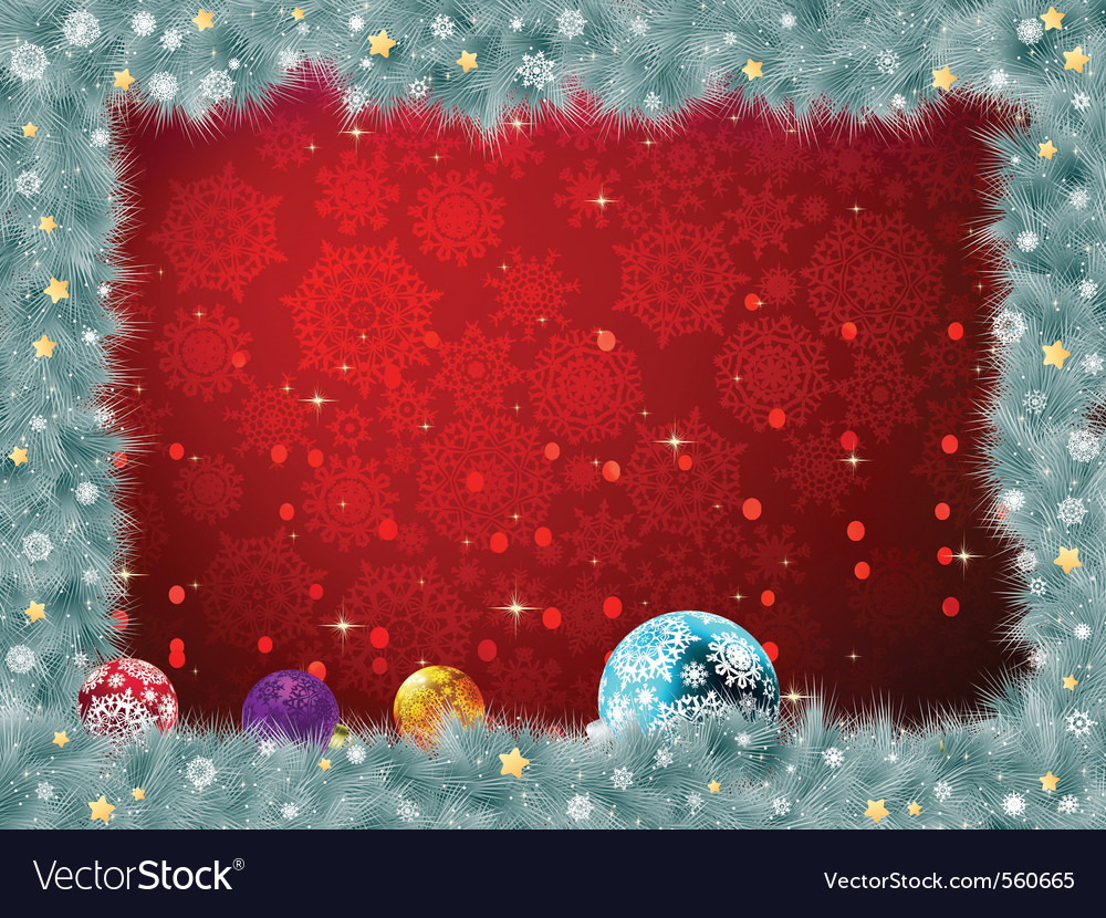 Christmas baubles background vector | Price: 1 Credit (USD $1)