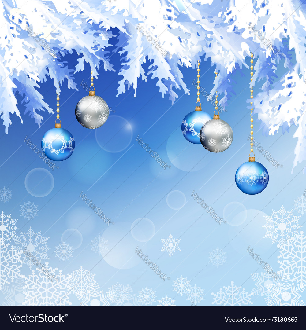 Christmas fir tree branches background vector | Price: 1 Credit (USD $1)