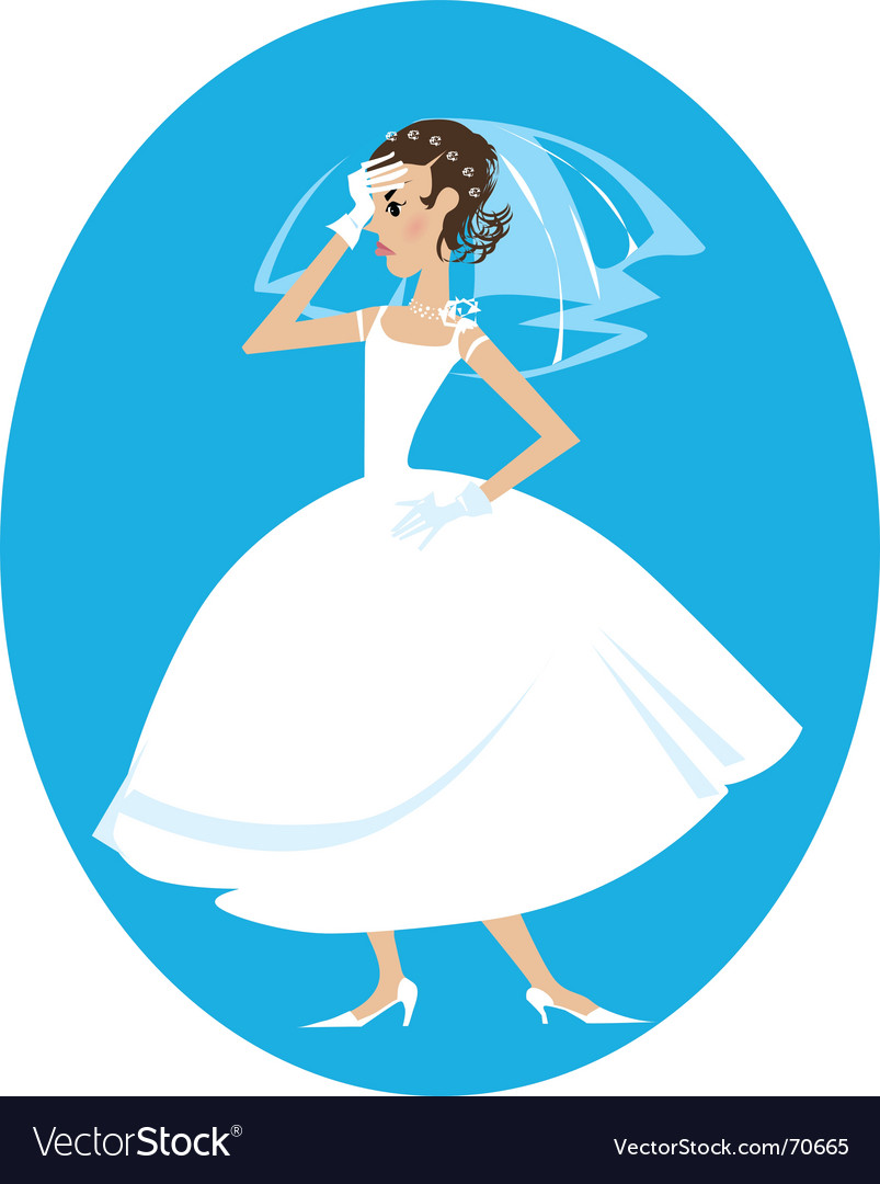 Disappointed bride vector | Price: 3 Credit (USD $3)