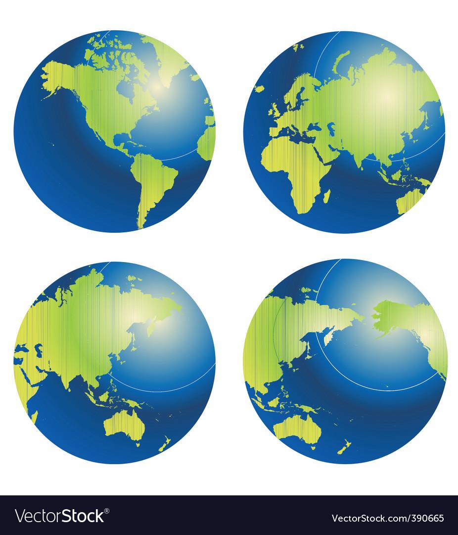Globes vector | Price: 1 Credit (USD $1)