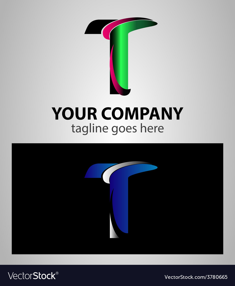 Letter t logo symbol design template elements vector | Price: 1 Credit (USD $1)