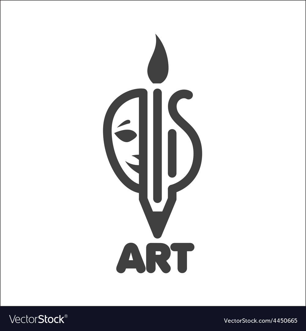 Logo creativity in theater music and painting vector | Price: 1 Credit (USD $1)