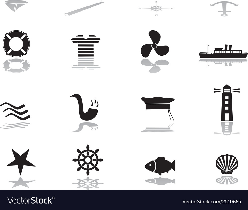 Nautical icons eps10 vector | Price: 1 Credit (USD $1)