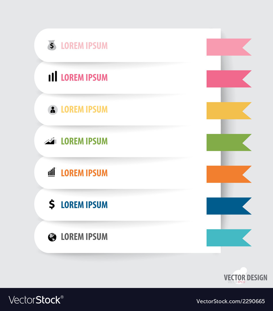 Note paper modern infographics banners vector | Price: 1 Credit (USD $1)