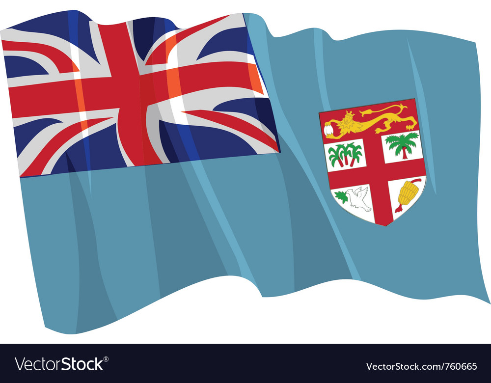 Political waving flag of fiji vector | Price: 1 Credit (USD $1)