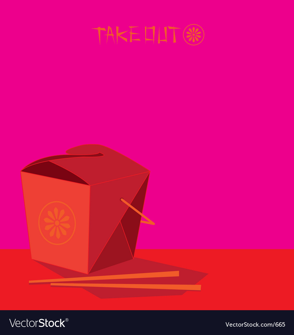 Take out vector | Price: 1 Credit (USD $1)