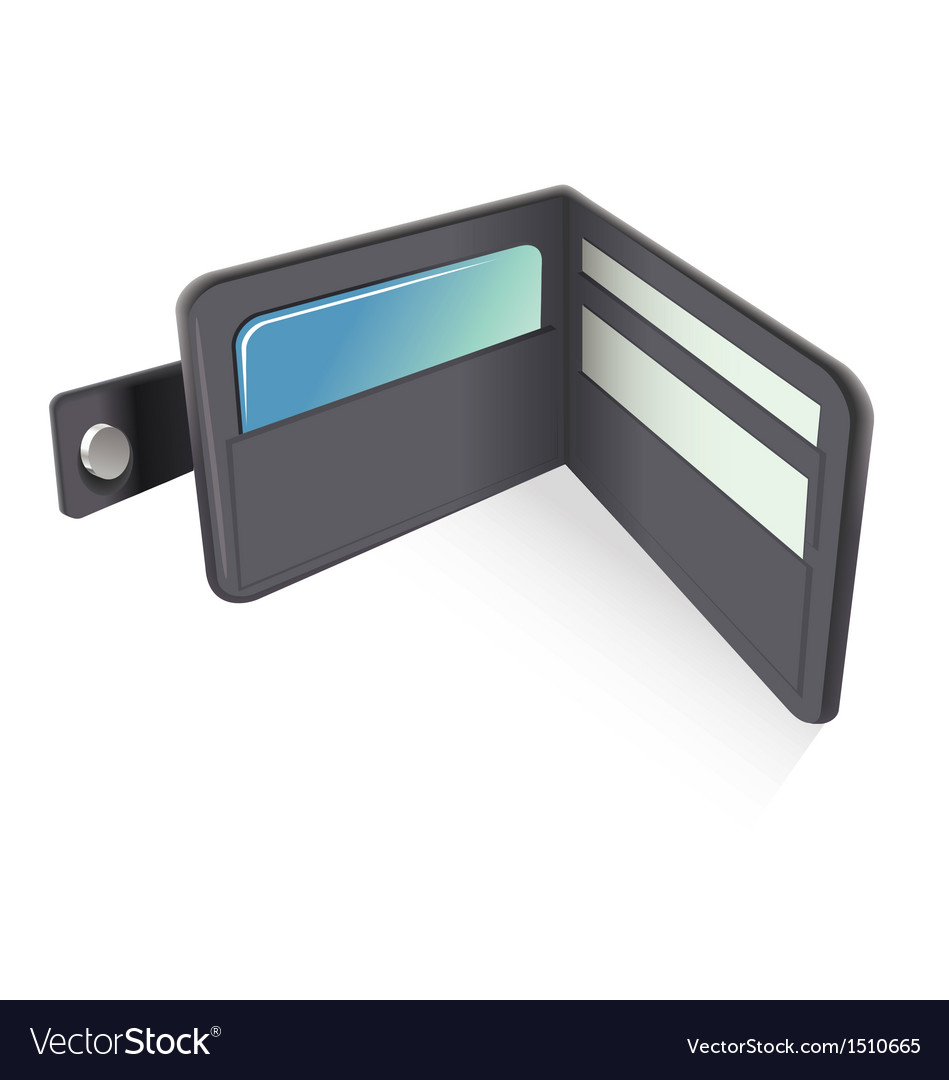 Wallet vector | Price: 1 Credit (USD $1)