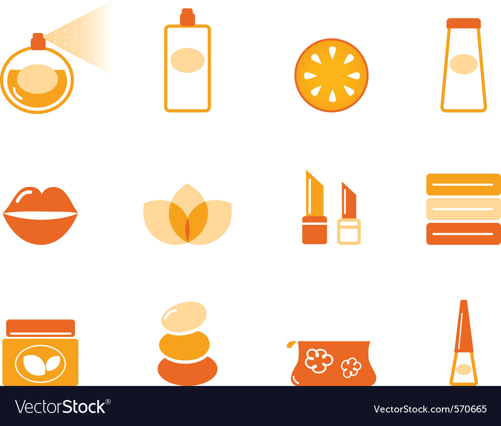 Wellness spa and cosmetic icons vector | Price: 1 Credit (USD $1)