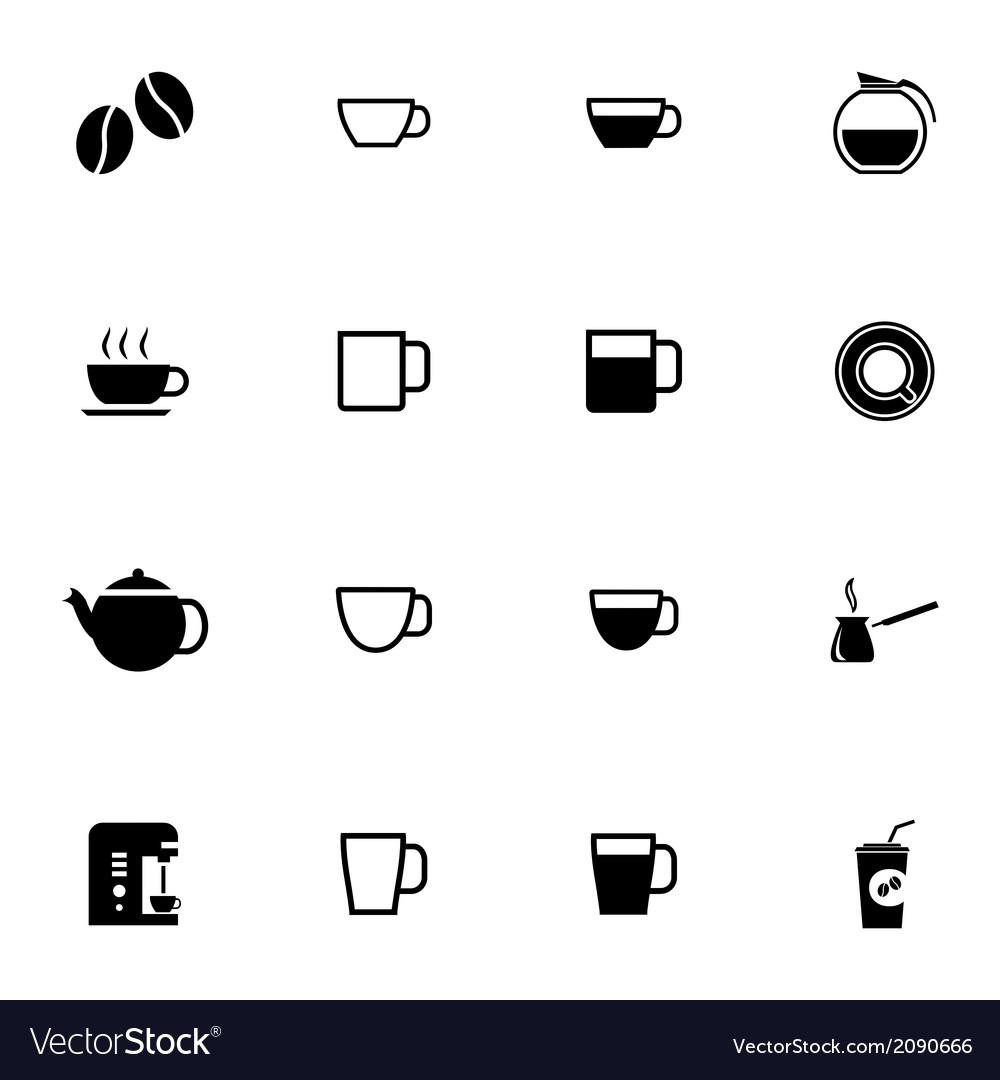 Black coffe icons set vector | Price: 1 Credit (USD $1)