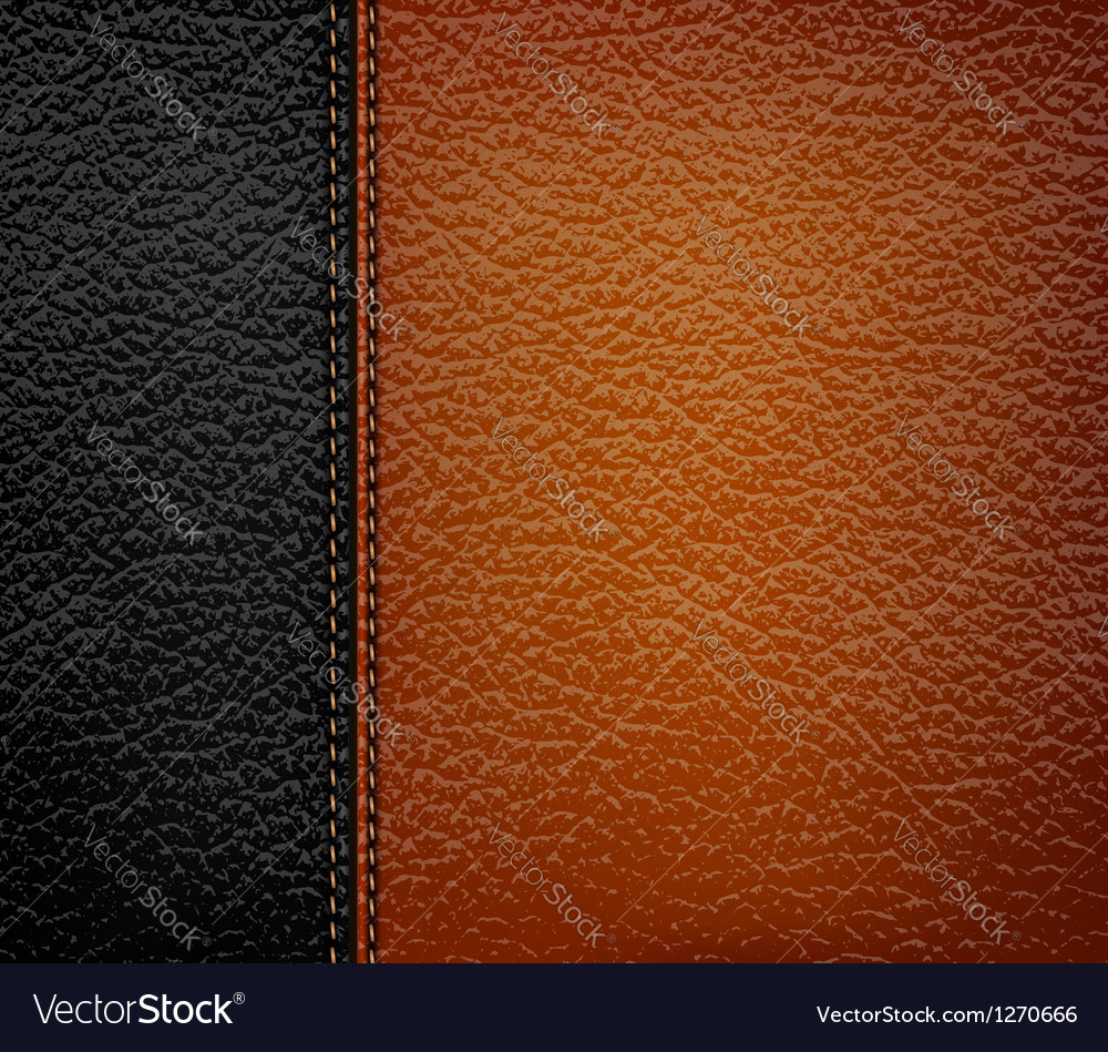 Black leather background with brown leather strip vector | Price: 1 Credit (USD $1)