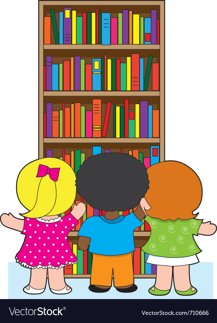 Bookcase kids vector | Price: 1 Credit (USD $1)
