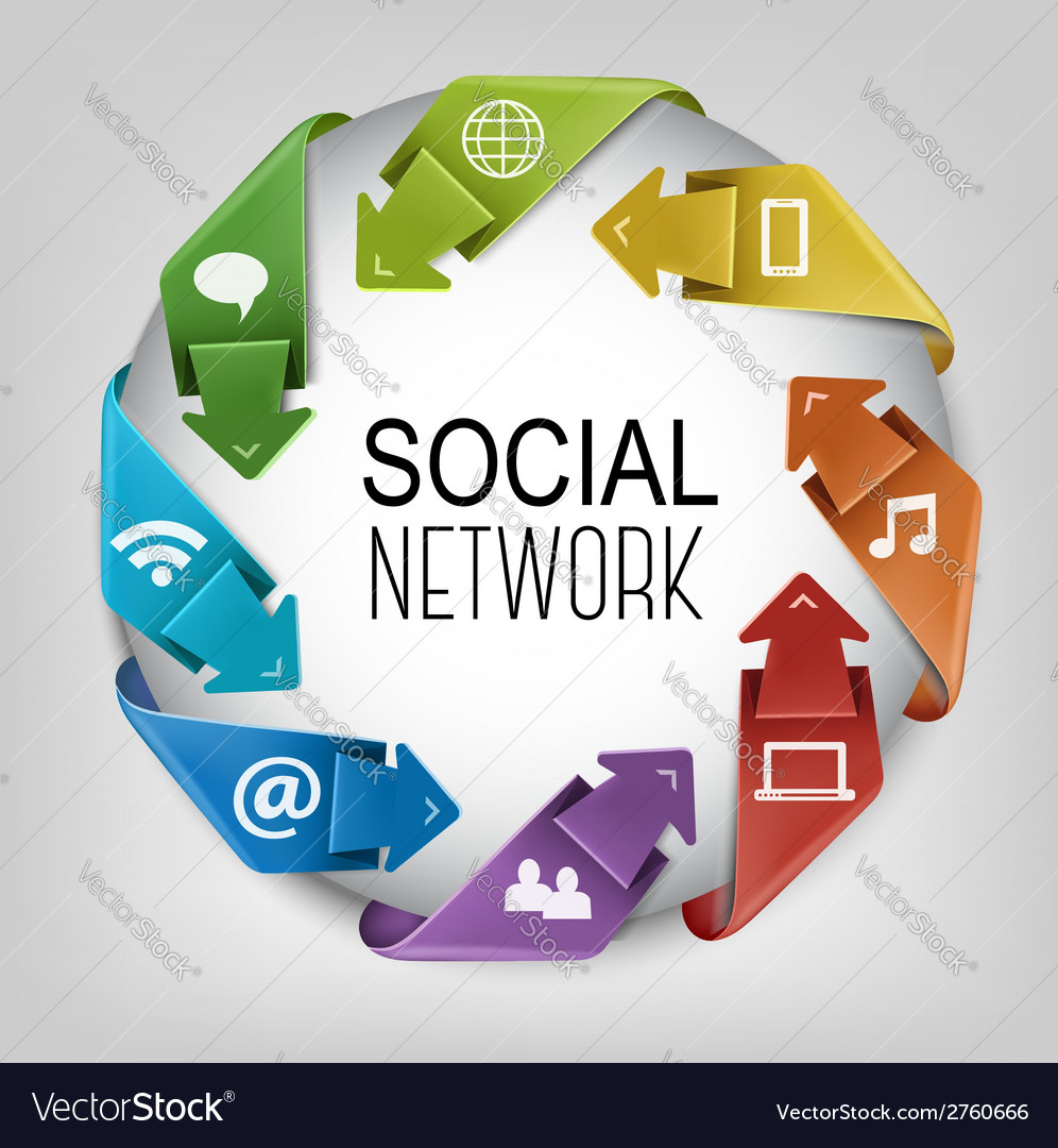 Business social network concept vector | Price: 1 Credit (USD $1)