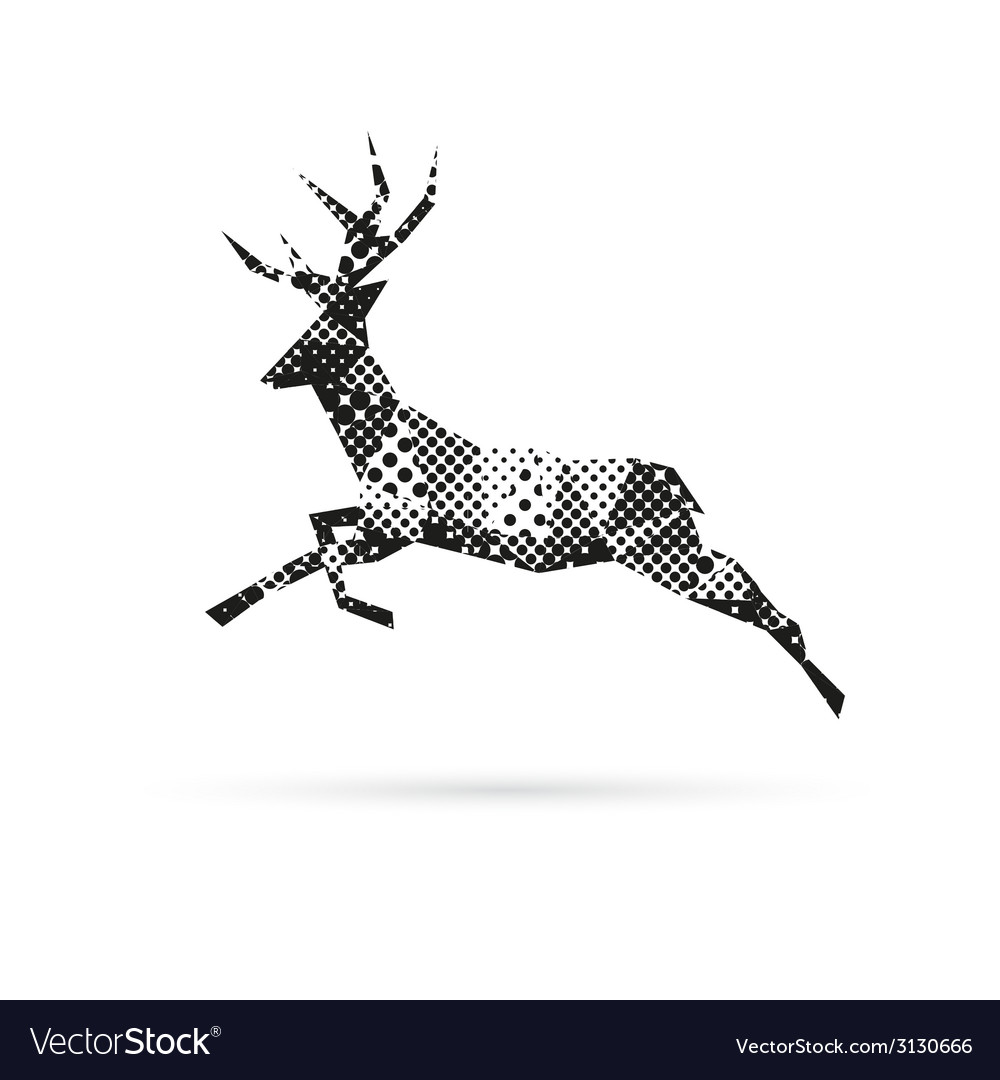 Deer abstract isolated vector | Price: 1 Credit (USD $1)