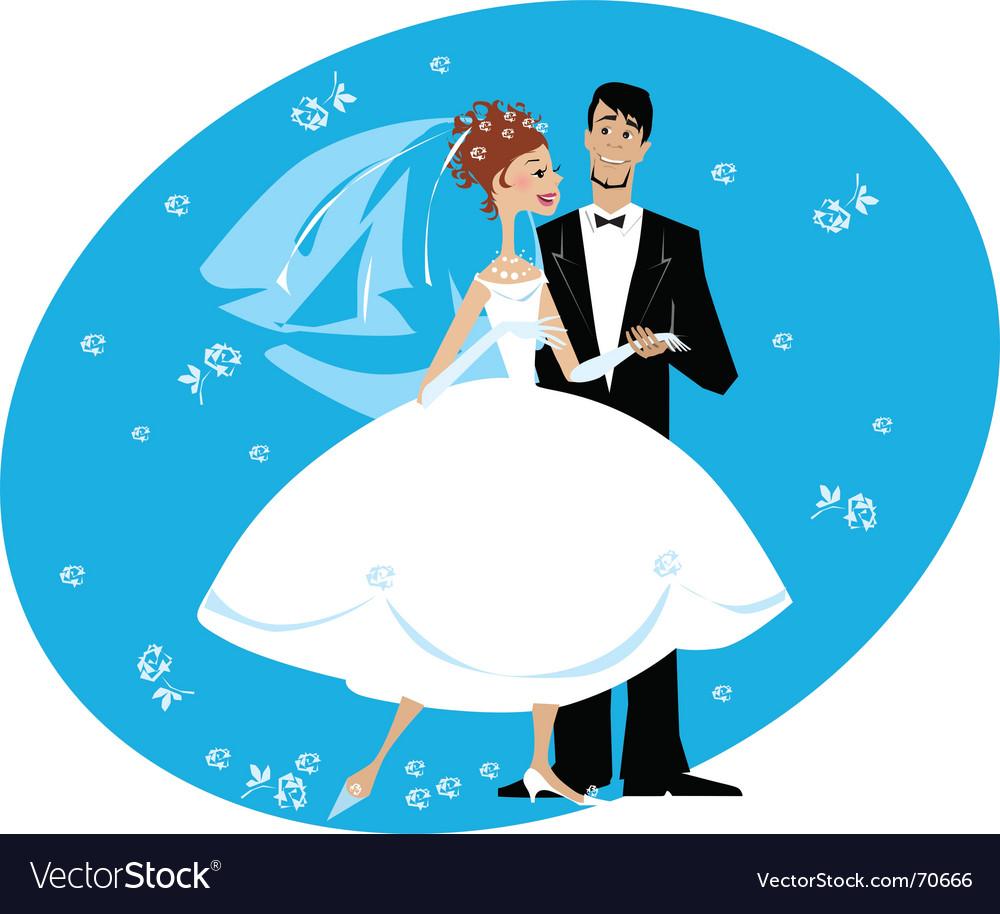 Newlyweds vector | Price: 3 Credit (USD $3)