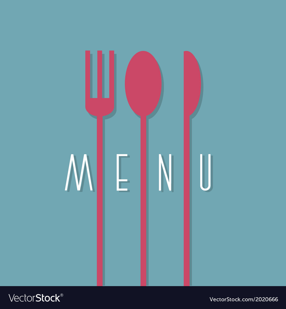 Stylish restaurant menu design in minimal style vector | Price: 1 Credit (USD $1)