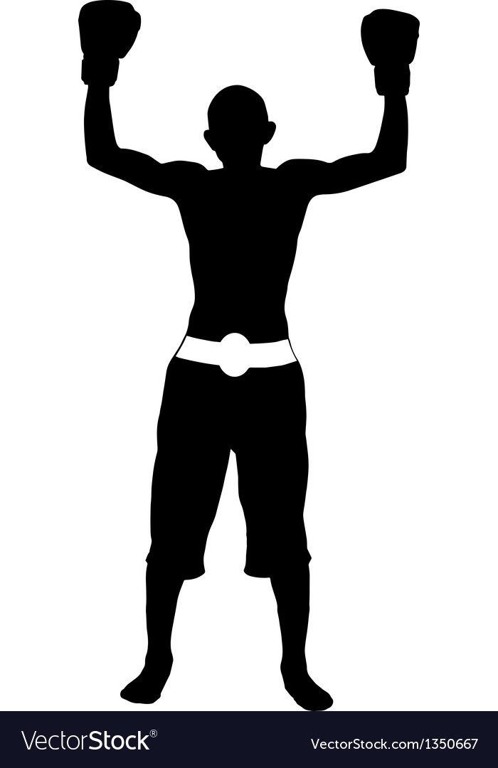 Boxer winner silhouette vector | Price: 1 Credit (USD $1)