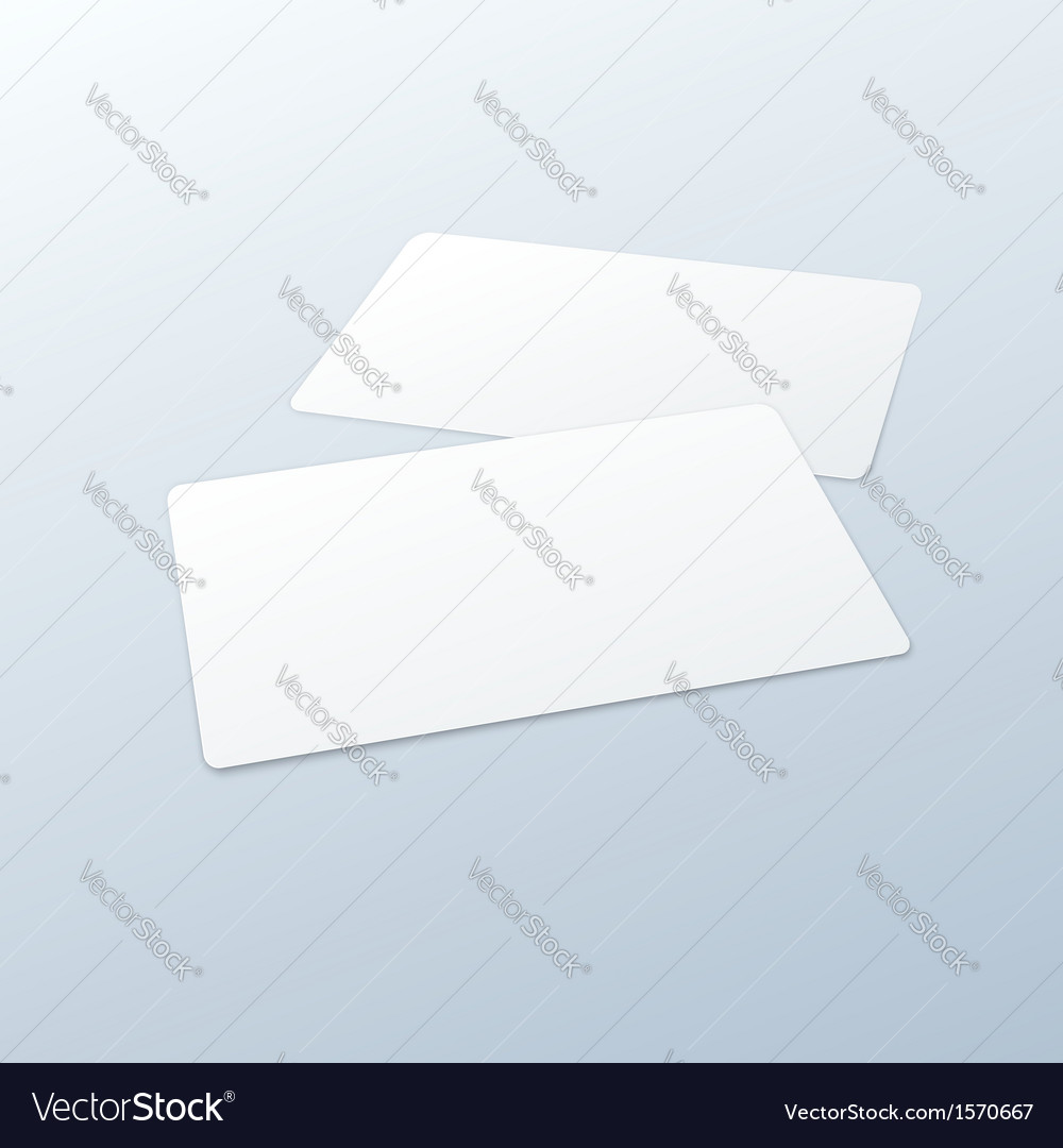Business cards blank mockup template vector | Price: 1 Credit (USD $1)