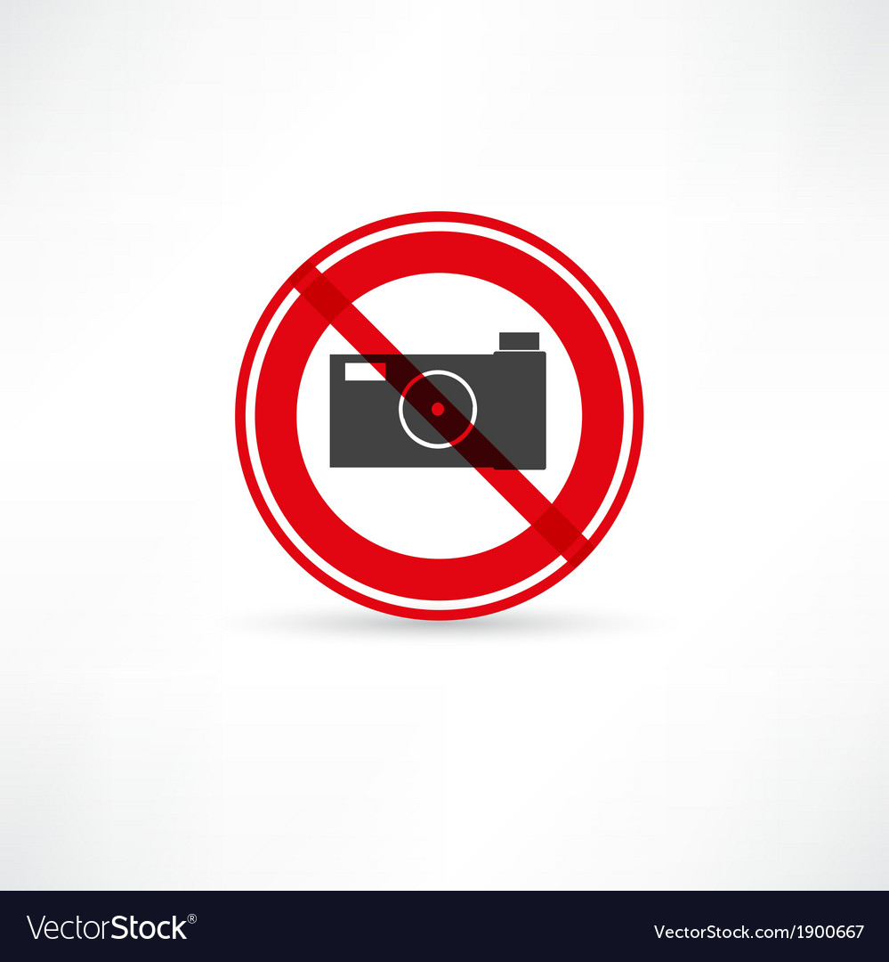 Forbidden to take pictures icon vector | Price: 1 Credit (USD $1)