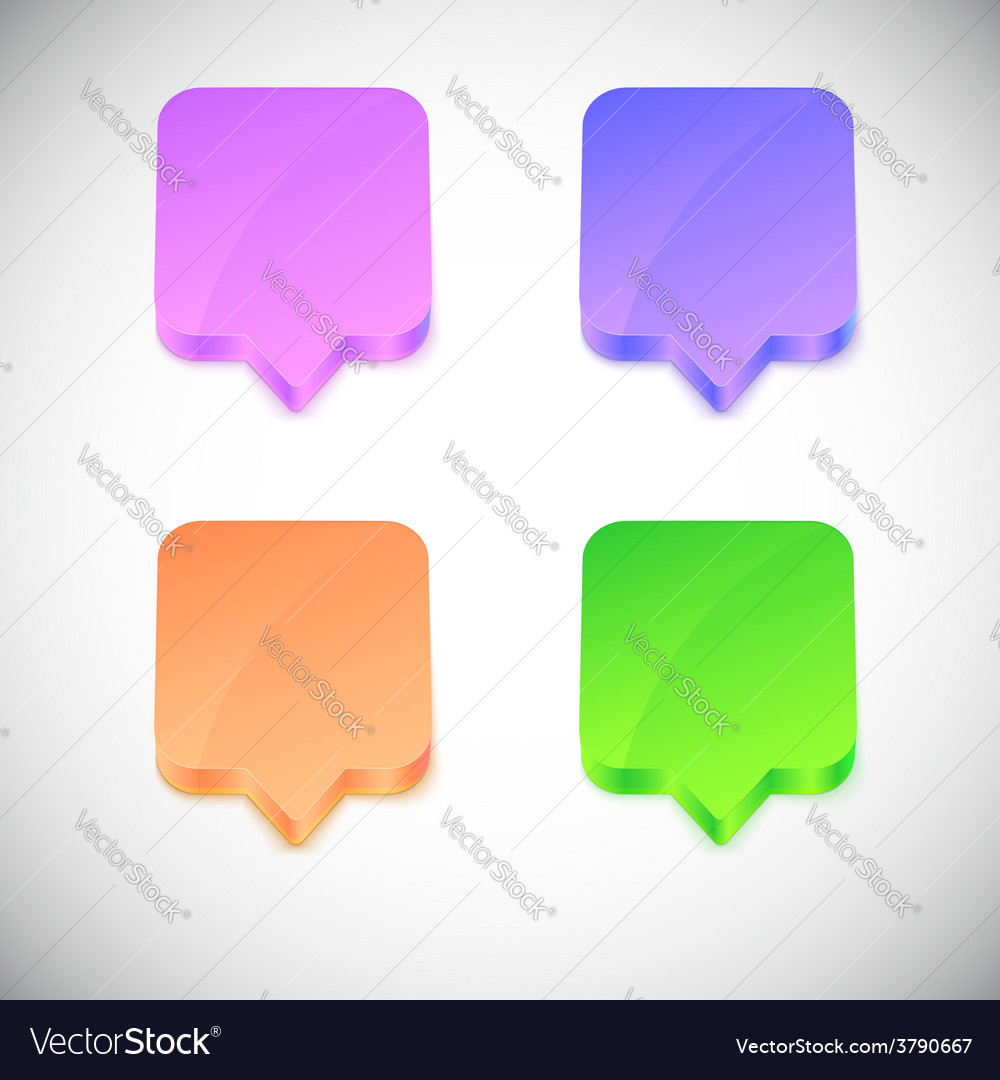 Glossy 3d speech bubbles vector | Price: 1 Credit (USD $1)