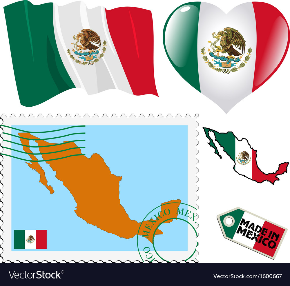 National colours of mexico vector | Price: 1 Credit (USD $1)