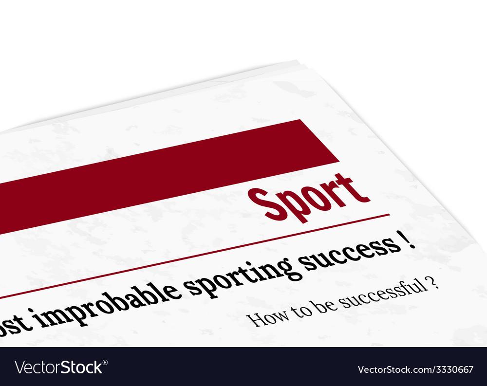 Newspaper - sport vector | Price: 1 Credit (USD $1)