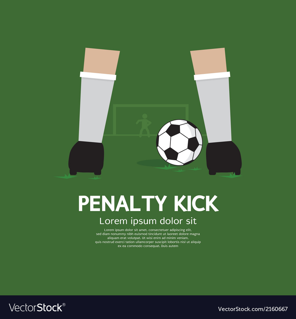 Penalty kick vector | Price: 1 Credit (USD $1)