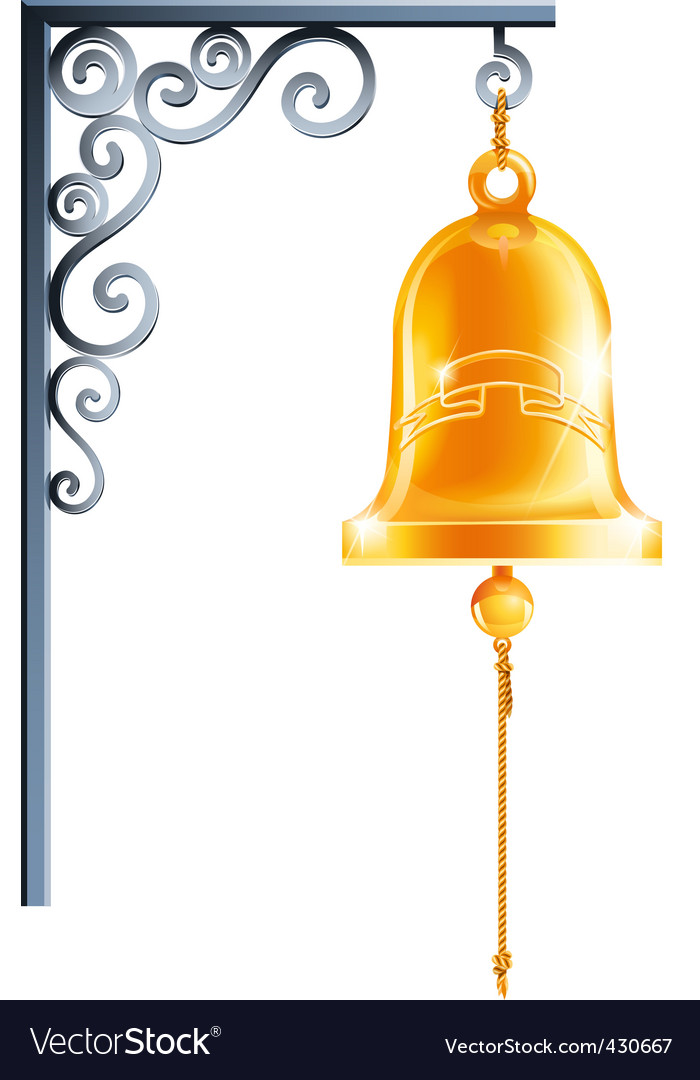 Retro bell at bracket vector | Price: 1 Credit (USD $1)