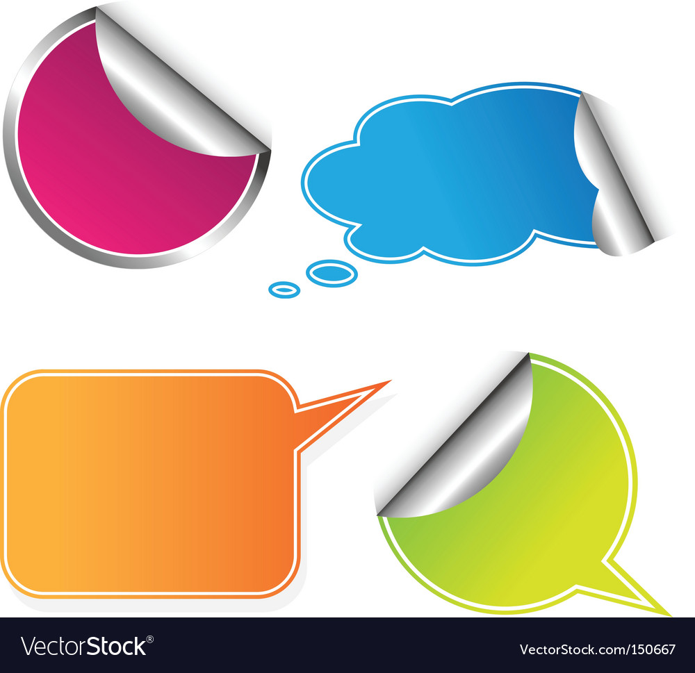 Set of colored stickers vector | Price: 1 Credit (USD $1)